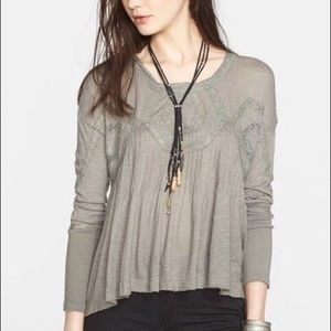 FP Like New Olive New Hope long sleeve tunic